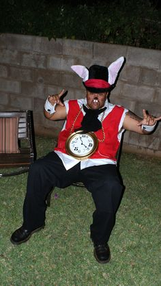 White Rabbit Costume with a little Flavor