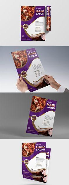 Blowout Hair Salon Flyer Template  Blowout Hair Flyer Template