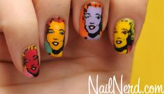 Freehand Andy Warhol's Marilyn Monroe nails