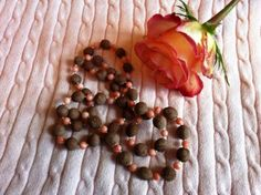 Beads made of roses. Now if I only knew this back when I got married!