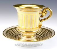 Antique Richard Klemm Dresden Germany CHOCOLATE CUP AND SAUCER GOLD GILDED