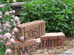 Do you have a bunch of left-over bricks hanging around? Here's a clever way to reuse them! #gardening