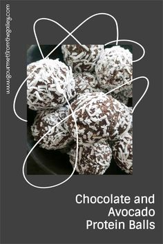 CHOCOLATE and Avocado protein balls. Very easy to make. #highprotein #chocolate #avocado #cashews #coconut #chiaseeds