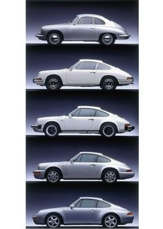 Porsche Air-cooled Generations by Auto Clasico Porsche Sports Car, Porsche Models, Porsche Cars, Porsche 911 Classic, Porsche 911 Targa, Classic Sports Cars, Classic Cars, Hot Rods, Sport Cars
