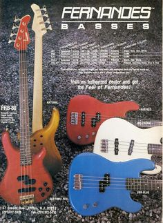 Fernandes Bass Guitar Promo Ad   Vintage Bass by MusicSellerz