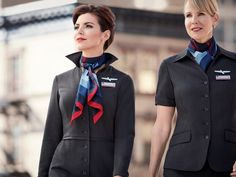 American Airlines flight attendants say their new uniforms are making them sick. The company that makes American Airlines' new uniforms is speaking out for the first time regarding complaints Delta Flight Attendant, American Airlines Flight Attendant, Airline Attendant, American Airlines Uniforms, Airline Uniforms, American Uniform, National Airlines, High Fashion Looks, Airline Flights