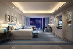 The Azure Qiantang, a Luxury Collection Hotel, Simple Bedroom Design, Bedroom False Ceiling Design, Room Design Bedroom, Home Decor Bedroom, Luxury Rooms, Luxurious Bedrooms, Dream Home Design, House Design, Classic House Exterior