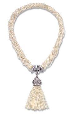 Magnifique sautoir en perles de chez Cartier - 1920.