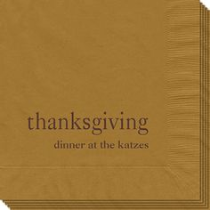 Big Word Thanksgiving Napkins