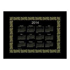 2014 Wall Calendar Posters Design from Calendars by Janz