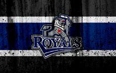 Download wallpapers Victoria Royals, 4k, grunge, WHL, hockey, Canada, logo, stone texture, Western Hockey League
