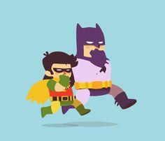 Fran Solo batman run animation loop