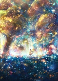 Most Beautiful Anime Drawings & Illustrations to Inspire You // Anime drawing, digital drawing, anime art, art, … Anime Kunst, Art Anime, Anime Art Fantasy, Fantasy Kunst, Anime Galaxy, Fantasy Landscape, Landscape Art, Anime Scenery, Fantasy Artwork
