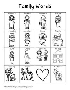 family theme preschool coloring pages - photo#7
