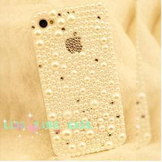 Pearl apple  iphone 4 case cover iphone 4s case iphone 5 case. $26.00, via Etsy.
