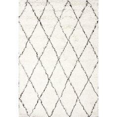 nuLOOM Handmade Moroccan Trellis Wool Shag Rug - 14949703 - Overstock - Great Deals on Nuloom - Rugs - Mobile Wool Area Rugs, Beige Area Rugs, Wool Rugs, Ivory Rugs, Moroccan Area Rug, Moroccan Style, Budget, Brown Rug, Dark Brown