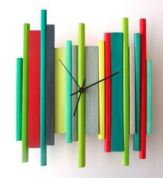 SALE of the DAY Modern Wall Clock Modern Retro by oneofatime