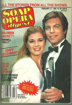 Soap Opera Digest February 17, 1981 Cliff and Nina All My Children