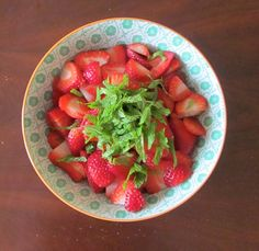 Strawberries and Mint    Two Leaf Clover