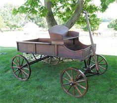Amish Old Fashioned Buckboard Wagon - Jumbo Rustic