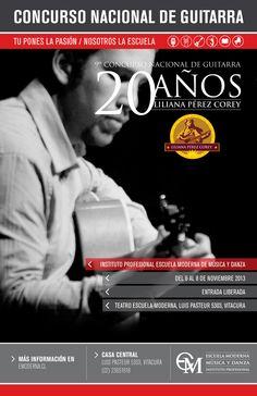 CONCURSO NACIONAL DE GUITARRA / DEL 6 AL 8 DE NOVIEMBRE EN NUESTRA ESCUELA