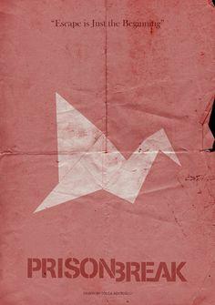 Prison Break (2005–2009) ~ Minimal TV Series Poster by Tolga Araboglu