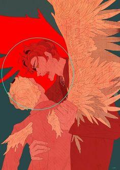 Devilman Crybaby, Character Art, Character Design, Film Anime, Good Omens Book, Fanart, Michael Sheen, Angels And Demons, Art Studies