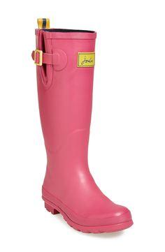 Pretty pink rain boots.