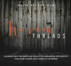 Woven Threads Live Concert CD available for purchase online at Rivet Merch. http://anderso.nu/woven-threads
