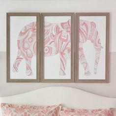 Elephant Art, Set Of 3 | PBteen