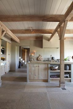 wooden kitchen Nature chic – cuisine bois clair et béton ciré Kitchen Interior, Kitchen Decor, Kitchen Ideas, Interior Doors, Kitchen Designs, Kitchen Pics, Kitchen Living, Wooden Kitchen, Rustic Kitchen