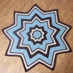 Ravelry: 9-Pointed Star Round Ripple pattern by Gene Saunders - free ravelry download!