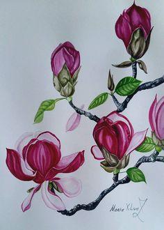 Magnolia от PomegranateArtMaria на Etsy