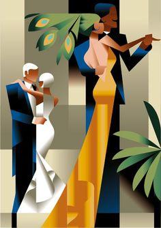 Art Deco Inspired Illustrations by Mads Berg [someone else's caption] #ArtDeco