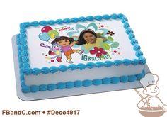 Deco4917 | DORA EXPLORER BIRTHDAY PARTY PC FRAME | Nickelodeon, boots, backpack, balloons, flowers, custom, photo.