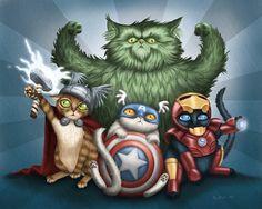 Artist Illustrates Cats As Superheroes - DesignTAXI.com