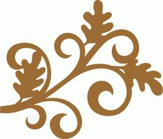 Silhouette Design Store - View Design #68111: oak leaf flourish