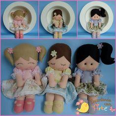 A decoração do quarto da Maria Alice ganhou um mimo a mais com essas lindas bonecas, não acharam? Os #apliques Marilda Aviamentos de florzinhas, ficaram lindos nas bonequinhas. Crie com amor, crie com #Marilda você também!
