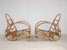 Art deco bauhaus bentwood cane armchairs by Angraves the Invincible design