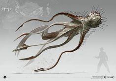 Brawl of Cthulhu: - Star Vampires & Hounds of Tindalos Concept Art Alien, Monster Concept Art, Creature Concept Art, Monster Art, Creature Design, Alien Creatures, Magical Creatures, Fantasy Creatures, Hp Lovecraft