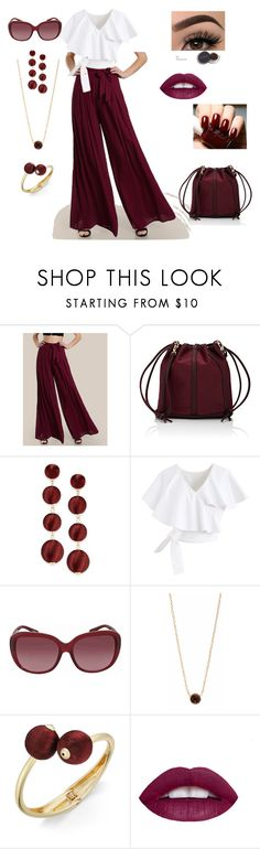 """""""Rich Color"""" by glassdreamshawaii ❤ liked on Polyvore featuring Deux Lux, INC International Concepts, Chicwish, Coach, KJ's Laundry, L.A. Girl, jewelry, cranberry, womensFashion and ColorCrush"""