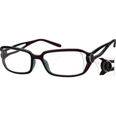 21ddfd5e80c1 A partial-rim plastic frame with design on temples. I have these and they