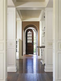 Love this hallway... wonder whats off to the left and the right... and what awaits outside that beckoning door.