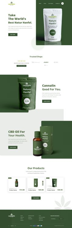 Cannalin: CBD OIL Product Landing Page Hola Guys! Here is my product feature landing page for CBD OIL. I try to make visually better with typography, color also playing with shapes. I hope you like it. Design Web, Email Design, Design Trends, Web Layout, Layout Design, Webdesign Layouts, Medicine Packaging, What Is Fashion Designing, Landing Page Design