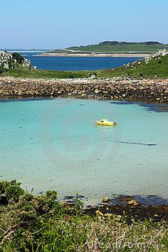 The bay between St. Agnes and Gugh, Isles of Scilly.