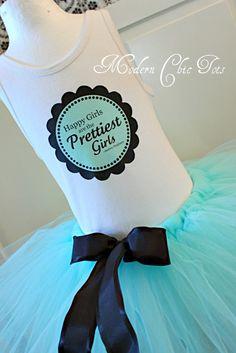 """Pretty Girls are the Prettiest Girls"" -Audrey Hepburn   Tutu Set"