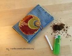 Portatabacco fatto a mano in jeans e/o stoffa di LaBottegadimarika