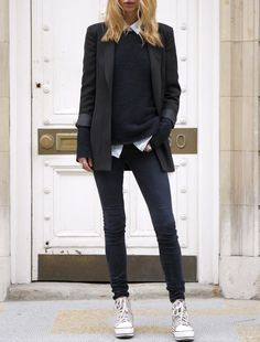 Business Fashion Ladies Business Outfit Woman Athletic Source by Estilo Tomboy, Tomboy Chic, Tomboy Fashion, Look Fashion, Trendy Fashion, Autumn Fashion, Tomboy Style, Fashion Black, Fashion Outfits