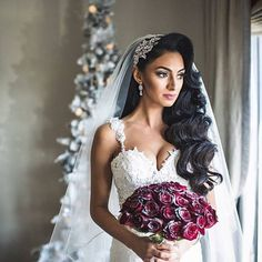 updos wedding, wedding dress with pearls, lace, red roses, beautiful … - Wedding Hairstyles Bridal Hair Down, Bridal Hair Updo, Wedding Hair Down, Bridal Comb, Wedding Hair And Makeup, Long Hair Wedding Styles, Wedding Hairstyles For Long Hair, Bride Hairstyles, Down Hairstyles