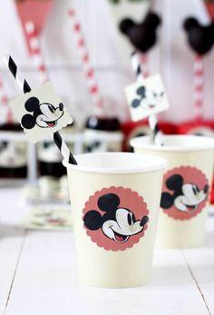 Adorable Vintage Mickey Mouse Party - Entertain | Fun DIY Party Craft Ideas